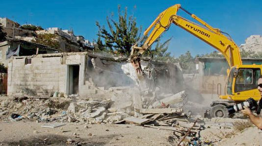 Palestinian home being demolished by the Israeli army