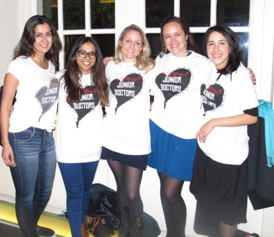 Junior doctors proudly donned their campaign T-shirts after the London meeting