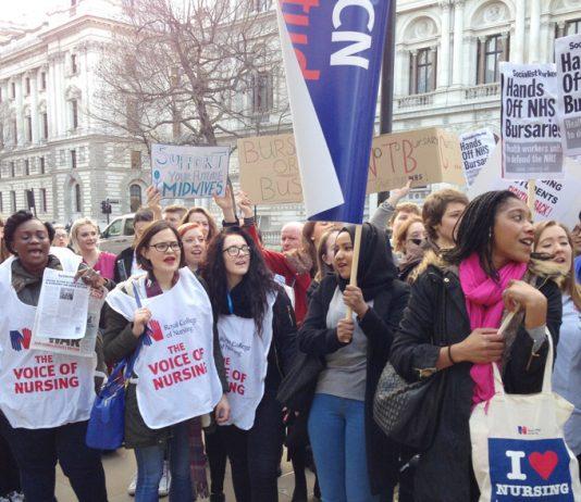 Student nurses demand 'hands off bursaries' – no tuition fees
