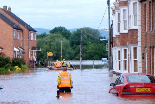 Gloucester firefighters worked round the clock during the floods in 2007