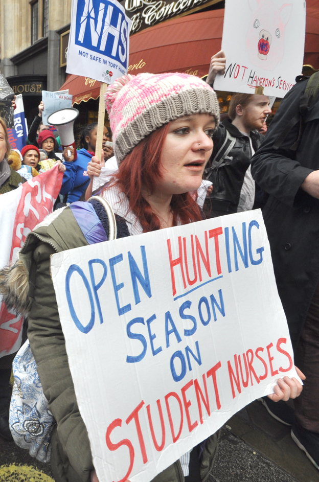Student nurses are fighting Health Secretary Hunt alongside the junior doctors