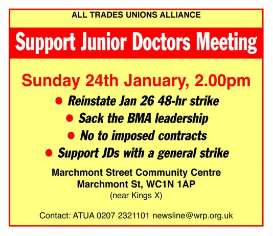 Meeting – Don't Let Junior Doctors Strike Be Defeated!