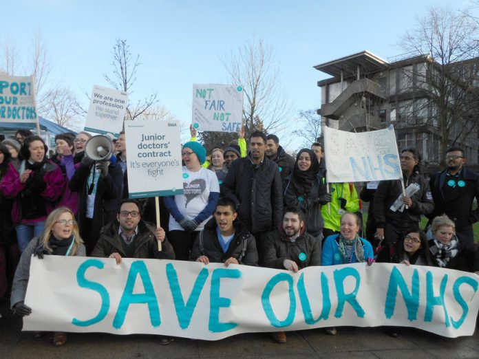 BMA Junior Doctors – fighting Tory attempts to dictate contracts will be demonstrating outside the BMA GP conference on  Saturday at 5.15pm at the Mermaid Centre, Puddle Dock, EC1