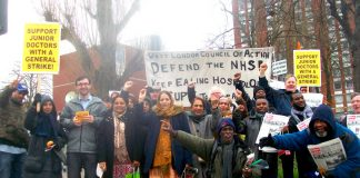 Last Friday's mass picket of Ealing Hospital demanding the A&E be kept open and the Maternity Department be re-opened