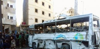 Devastation after terrorists blew bombed a bus station in Sayyeda Zainab suburb of Damascus – the Syrian opposition at the Geneva talks refused to issue a condemnation of the crime