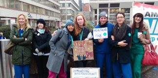 Morale was high on the junior doctors picket line at St Thomas' Hospital