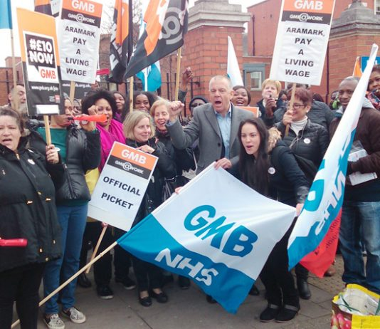 The 60-strong picket outside the Maudsley hospital was rock solid with vuvuzelas and whistles – strikers shouted: 'Ten pounds an hour!'
