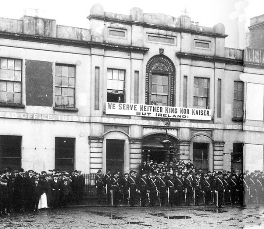 The Irish Citizens Army was formed by James Larkin and James Connolly during and after the 1913 Dublin Labour War – its members fought in the 1916 Rising and Connolly was executed after its defeat