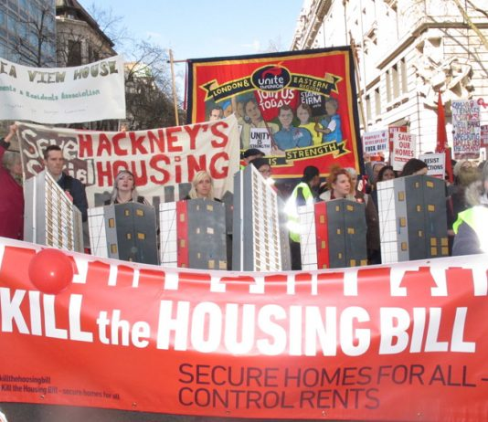 March in London earlier this month against the Housing Bill