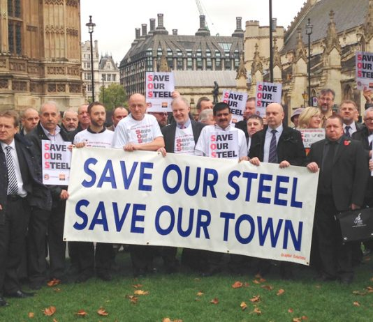 Steel workers lobby parliament – they will take action to defend their jobs and the industry