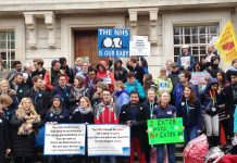 Junior doctors midday rally in Hackney