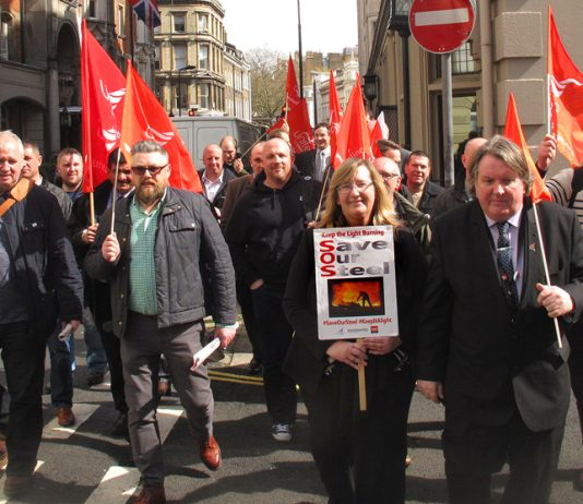 Last month Unite, Community and GMB reps marched to the TUC headquarters in central London to discuss the steel crisis
