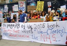 Junior doctors outside the Royal London Hospital in east London – they are standing up against Hunt's imposed contract
