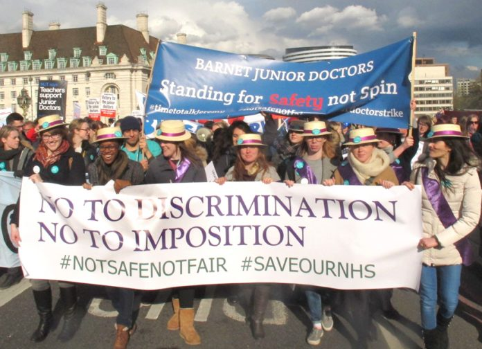 Junior doctors last month said gender inequalities that the contract imposes are as bad as the days of the Suffragettes