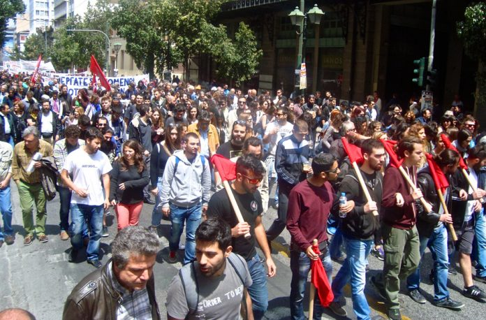 Strikers march in Athens on Saturday