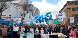 Junior doctors mounted mass pickets across the country during their all-out strikes on April 26/27 answering Hunt's scare stories