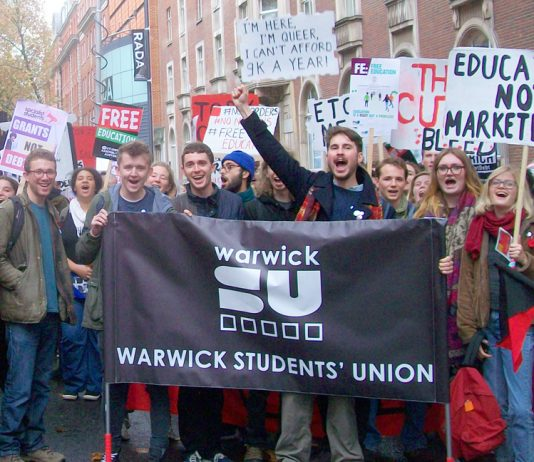 Thousands marched for free education through central London – students are determined to drive the market out of education