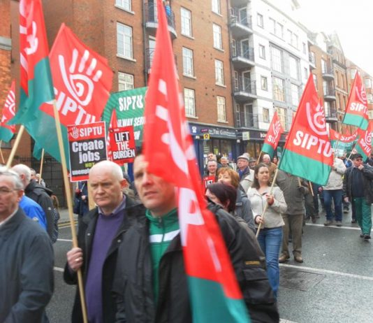 Irish TUC march against EU-imposed austerity – SIPTU is warning that new mass actions are on the way