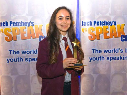Palestinian-British schoolgirl Leanne Mohamad was crowned regional finalist in the 'Speak Out' Challenge has been barred from progressing further in the competition
