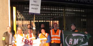 Picket line at King's Cross station during the last tube strike last year – the safety of passengers is the primary concern of the union