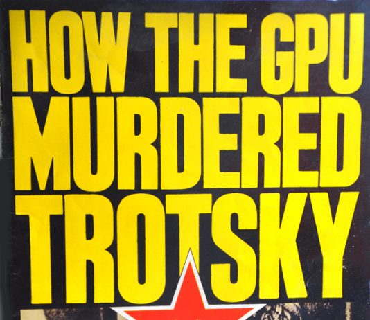 King designed 'How the GPU Murdered Trotsky' in spectacular fashion