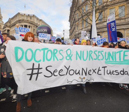 Junior doctors and nurses are battling to defend the NHS from the attacks of the Tories led by health secretary Hunt