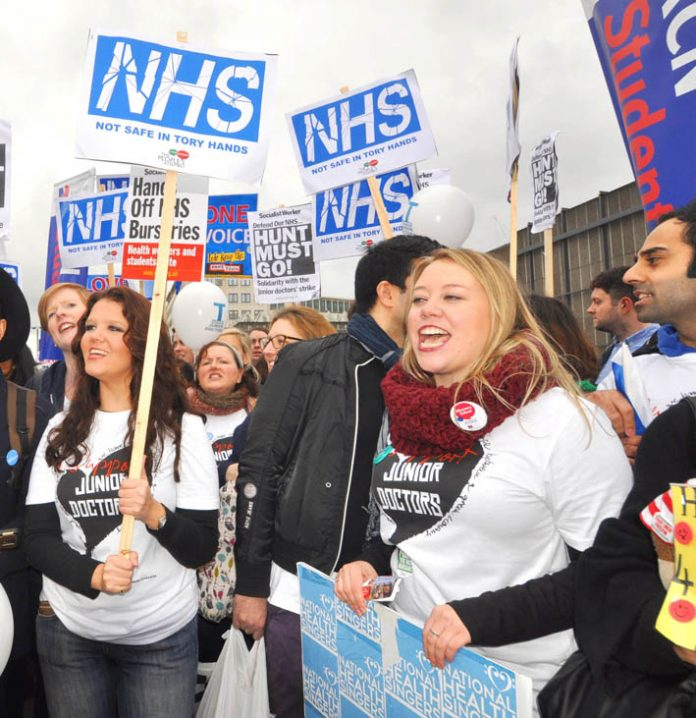 Defiant student nurses and junior doctors – nurses are defending their bursaries and the junior doctors are voting on Hunt's new contract