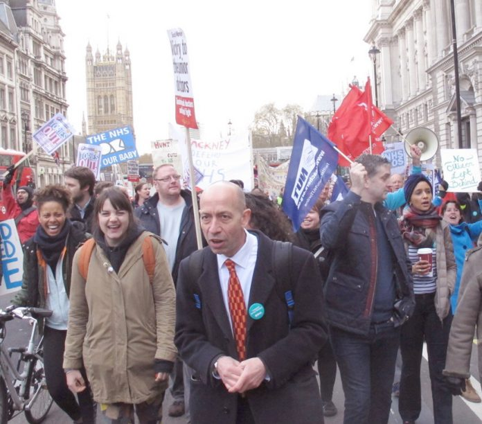 Teachers joined junior doctors on a mass march through central London last month – teachers are out on strike today