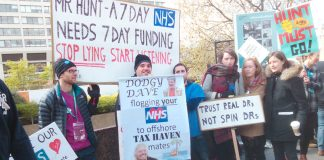 Junior doctors condemn Hunt and his campaign to impose a contract and impose 7-day working without 7-day funding
