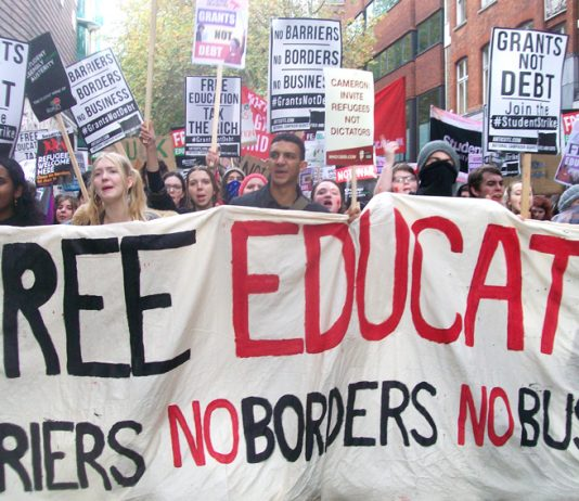 Hundreds of thousands of students have been denied their right to education by the Tories – a march for free education has been called for Saturday November 19