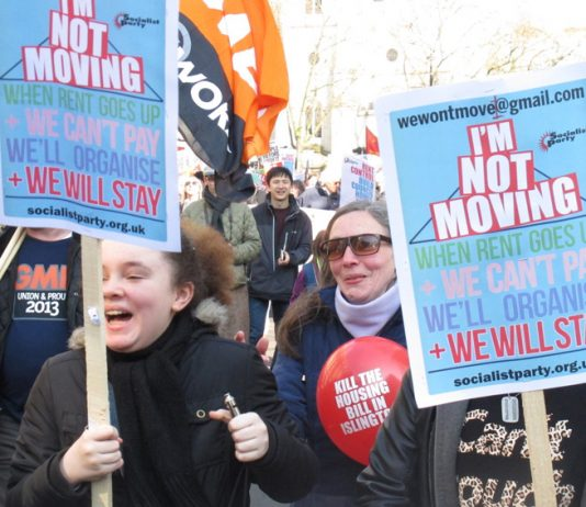 Last March a demonstration hit central London against spiralling rents, the destruction of council housing and mass evictions
