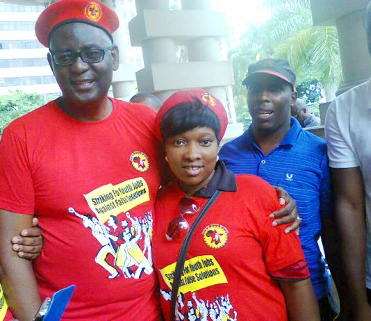 ZWELINZIMA VAVI supporting a NUMSA 'Jobs for Youth' rally
