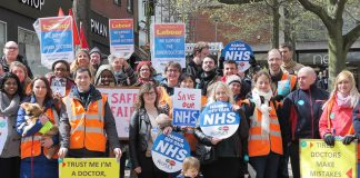 Junior doctors in Norwich taking strike action – many are looking to the TUC to take action with them on October 5th