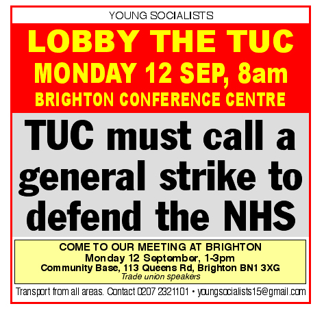 Lobby The Tuc Congress Today!