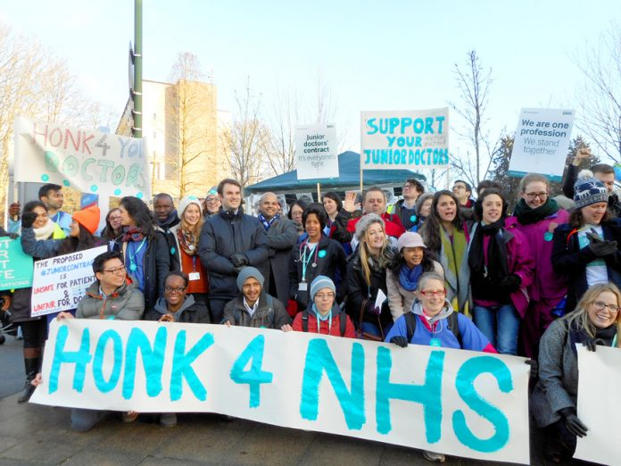 Junior doctors defending the NHS – all they have got from the TUC is warm words and absolutely no action