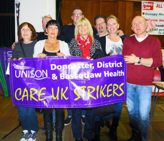 Care UK strikers Doncaster carers fought a major battle to defend care to the elderly