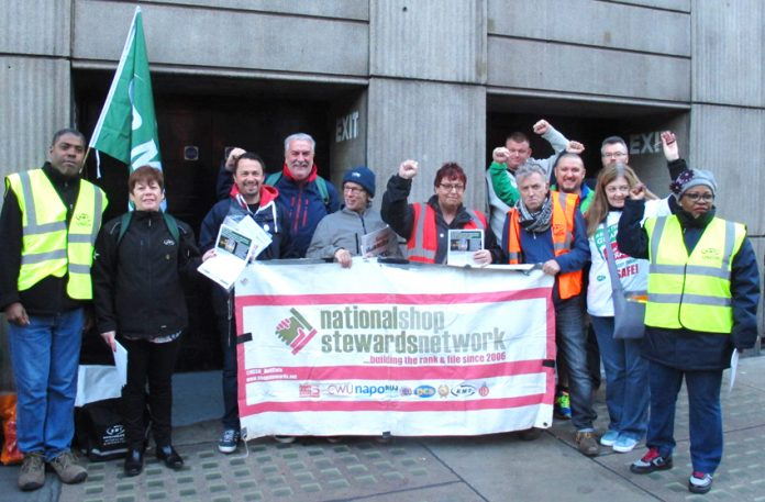 Striking Southern rail guards on the picket line yesterday morning at Victoria station – they are out again today and tomorrow