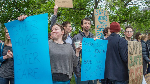 Junior doctors on the picket line in Christchurch