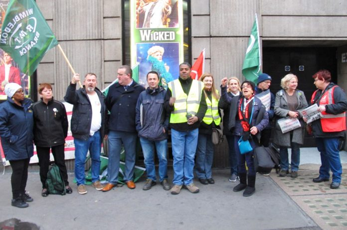 Rock solid picket line outside Victoria station yesterday morning on the first day of the three-day Southern guards strike