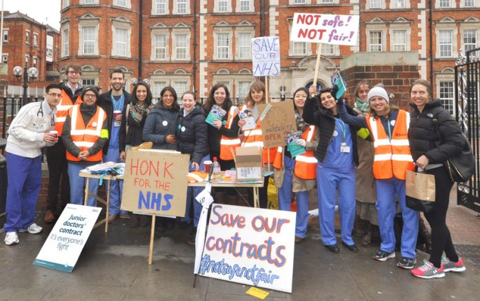 Junior doctors fighting Hunt's contract imposition – now all NHS unions face the same threat and treatment