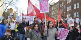 March in London against the government's Housing Bill earlier this year and against privatisation, cuts, evictions and homelessness