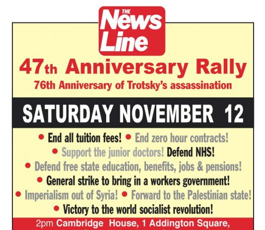 TODAY! – News Line Anniversary Rally
