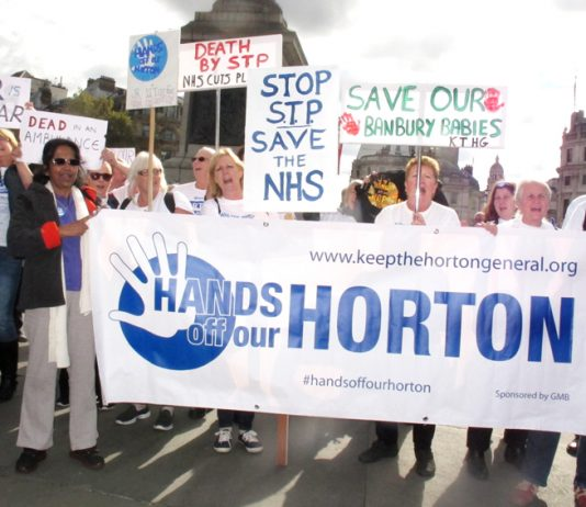 Demonstrators in London last month fighting against the closure of the maternity department at Horton Hospital in Oxfordshire