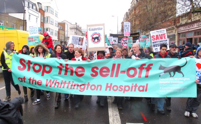 March through north London to stop the closure of Whittington hospital A&E – leaked STPs reveal that is exactly what is on the agenda