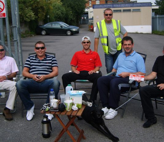 Aslef drivers on the picket line during a previous strike – they are out for 48 hours in an escalating struggle over safety