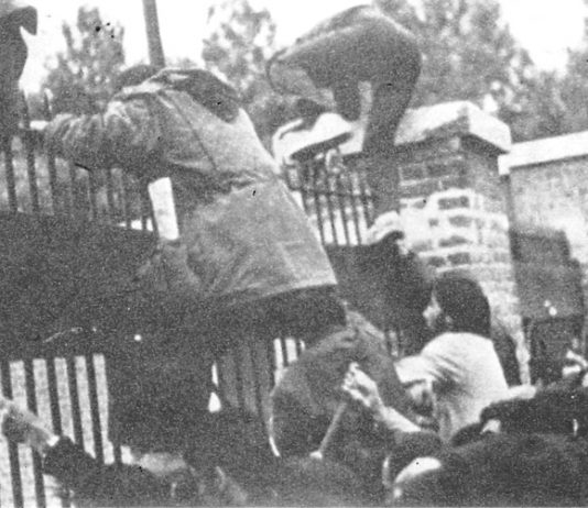 Students storm the US embassy in Tehran in 1979 ending the imperialist domination of Iran