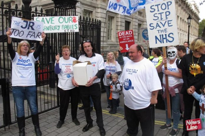 Horton Hospital is one of many that have been lobbying 10 Downing Street to tell the government 'Hands off our Maternity Services'
