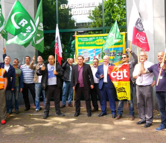 French trade unionists, members of the CGT, joined RMT picket lines to show their support. Trade unionists across the world are watching very closely the developments in the British rail industry