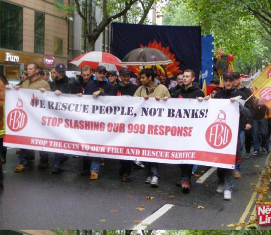 FBU demonstration against Fire Service cuts