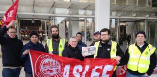 ASLEF picket line at London Bridge Station earlier this week